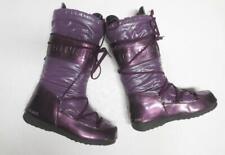 Tecnica *The Original Moon Boots, Shiny Purple Snow Weather Size 40 L9 M6 1/2