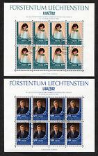 8 x Liechtenstein 797 - 798 gestempelt KB Kleinbogen Bogen Satz LIBA 1982 used
