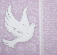 Servietten 33x33 20St. ( 276 ) Kommunion Konfirmation Taube rosa flieder