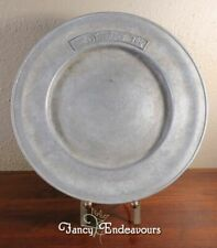 Vintage The Smuggler's Inn Pewter Plate or Charger #90194 Advertising
