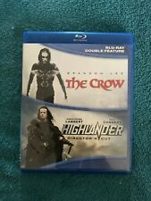 The Crow / Highlander Blu-ray double feature Action Rare Oop Like New