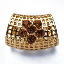 tube bijoux passant Anneau à foulards fin soie mousseline cristal doré
