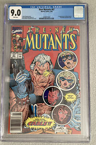 New Mutants 87 1st Appearance of Cable CGC 9.0 Newsstand Edition.