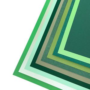 Seasonal Pack of Mixed Green Cardstock A4   10 sheets
