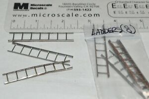 O scale PARTS DETAILS metal freight car ladders 7-rung (8)