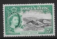 ASCENSION SG68 1956 5/- BLACK & BLUE GREEN MTD MINT