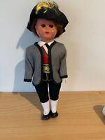 Vintage Celluloid German Doll International Large Sleeping Eyes