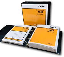 Case 1840 Uni Loader Skid Steer Service Manual Parts Catalog Shop Book Set Tech