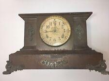 Antique Cast Iron Case Open Escapement Ansonia Mantle Clock For Restoration