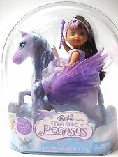 Barbie MAGIC OF PEGASUS KELLY CLOUD PRINCESS & PONY Purple Wings NIP 2005 NEW AA