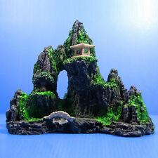 Vividly Mountain Aquarium Rock Cave Stone Tree Bridge Fish Tank Ornament Decors