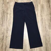 Worthington Women's Stretch Dress Pants ~ Sz 12L ~ Flap Pockets ~ Navy Blue