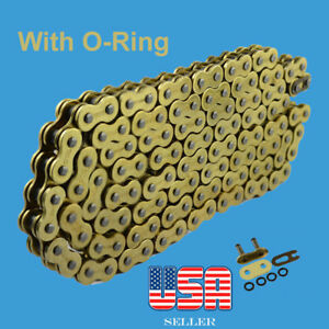 Chain 530 x 120 Gold Color with O-ring Fit:Harley-Davidson Sportster Dyna
