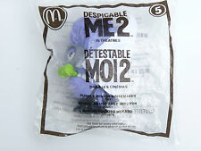 2013 McDonalds Despicable Me 2 PURPLE MINION NOISEMAKER Figure Toy #5  NEW