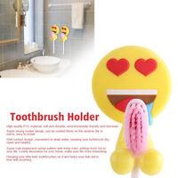 Wall Mounted Mini Sucker Emoticons Bathroom Toothbrush Holder Storage Rack