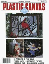Plastic Canvas Corner Magazine ~ January 1992, 20 plastic canvas projects
