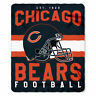 """CHICAGO BEARS FLEECE THROW BLANKETS 50""""X60"""" WHIP STITCHED"""