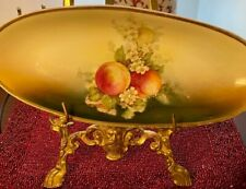 Antique (1909-1916) Three Crown China Hand Painted Celery Dish Made in Germany