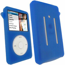 Blue Silicone Skin Case Cover for Apple iPod Classic 80/120/160GB Thin Models