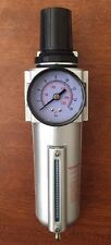 "3/4"" Air Compressor Regulator & Filter Combo w/ Gauge"