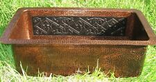 Copper Undermount Kitchen Sink 28x18x9  Dark Patina Finish