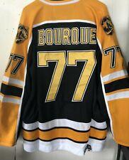 NWT Boston Bruins #77 Ray Bourque Throwback NHL Jersey Black size Medium (48)