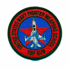 45 MM USA Top Gun Navy Fighter Weapons School US PATCH RICAMATE aufbügler 0901 a