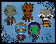 More details for marvel guardians of the galaxy metal & enamel pins / pin badge buy 1 or set of 5