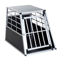 "36"" Aluminum Dog Cage Pet Transport Box Crate Kennel Playpen w/ Lock"