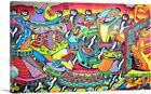 ARTCANVAS Colorful Graffiti Tag Art Canvas Art Print
