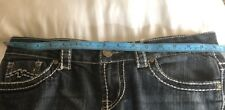 Free Culture Embellished Dark Wash Straight Leg Jeans Women Size 9