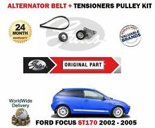 FOR FORD FOCUS ST170 2.0i 2002-2005 NEW ALTERNATOR BELT + IDLER + TENSIONER KIT