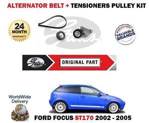 FOR FORD FOCUS ST170 2.0i 2002-2005 NEW ALTERNATOR BELT + IDLER + TENSIONER KIT