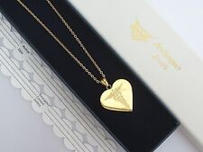 LADIES GOLD HEART SOS NECKLACE/PENDANT MEDICAL ALERT/STAINLESS STEEL TALISMAN