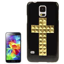 Hardcase Schutzhülle Cover Samsung Galaxy S5 Goldenes Kreuz Bling Bling Cross