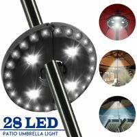 28 LED Parasol Patio Umbrella  3 Brightness Mode Outdoor Camping Tent  Ц ° ▽