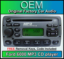 Ford Galaxy CD MP3 player, Ford 6000 MP3 car stereo + radio removal keys & code