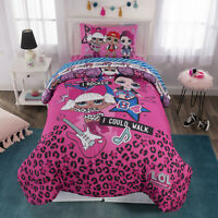 Girls Bedding Set L.O.L. Dolls Kids Comforter Sheets Pillow Case Pink Twin Size