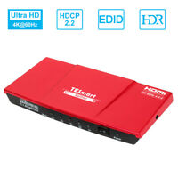 1 in 4 out 4K@60Hz 1X4 HDMI Splitter Repeater Amplifie Support HDCP 2.2 EDID
