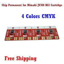 Chip Permanent for Mimaki JV300 / JV150 BS3 Cartridge 4 Colors C M Y K