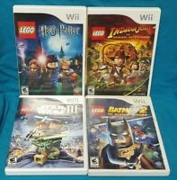 Nintendo Wii & Wii U LEGO Game Lot Indiana, Batman 2, Star Wars III Harry Potter