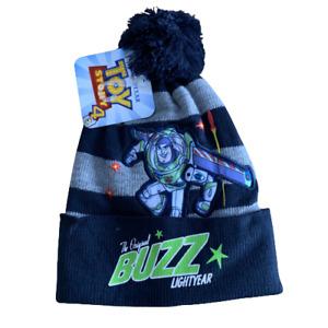 Boys Disney Buzz Lightyear Toy Story Kids Bobble Hat