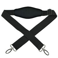 Universal Black Replacement Adjustable Shoulder Padded Strap for Duffle Tote Bag