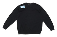 Avenue Mens Size L Cotton Black Lightweight Long Sleeve T-Shirt