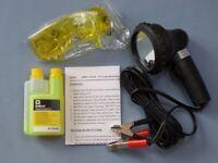 1x Set Lecksuche in Kfz Klimaanlagen UV Lampe Schuzbrille R12 R134a R1234yf
