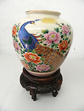 Rare Japanese Peacock Vase Tokai of America Inc. Rancho Cucamonga Japan 1986