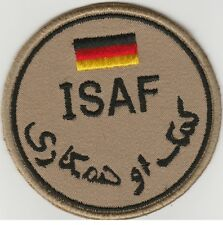 ISAF. AFGHANISTAN. NATO forces GERMANY patch DESERT 'N' VLCRO