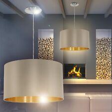 Schirm Esszimmer Lampen Pendellampe Wohn Zimmer Leuchte Hängeleuchte Stoff grau