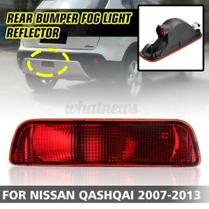1Pcs Rear Bumper Reflector Tail Fog Light Lamp For Nissan Qashqai 2007-2013