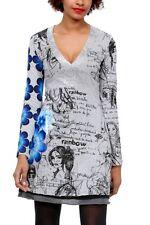 DESIGUAL GRAY  VEST ISSUE DRESS SIZE MEDIUM BNWT RETAIL $114
